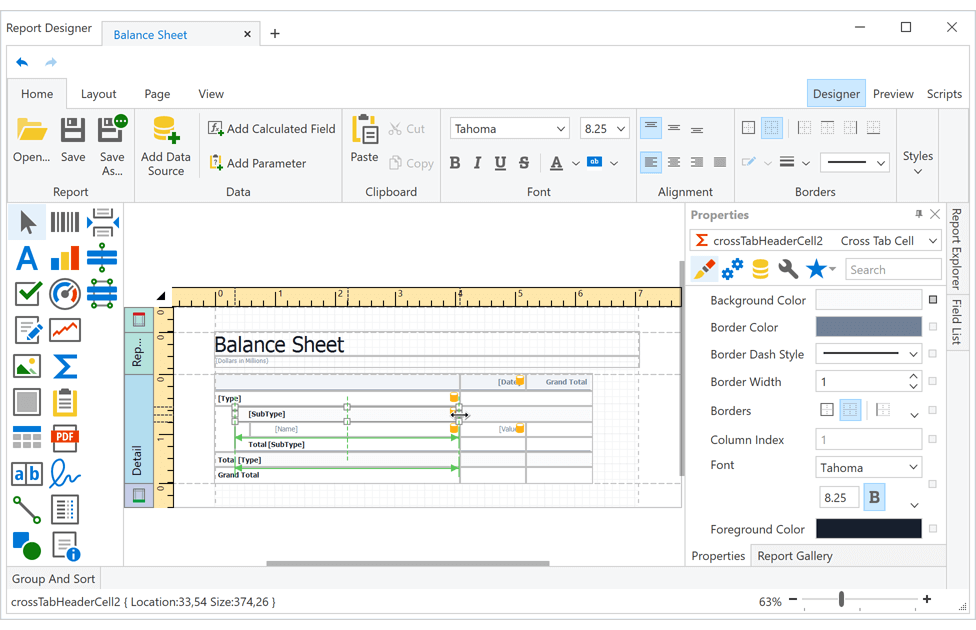 DevExpress .NET Reporting v20.2新版亮点:WinForms & WPF报表控件功能增强