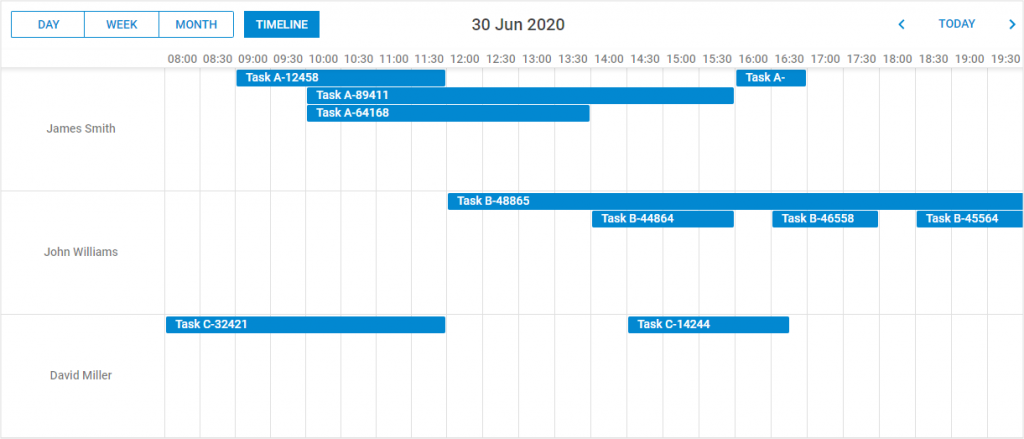 活动日历-时间轴视图