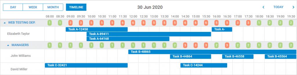 计划程序-时间轴视图-自定义HTML内容