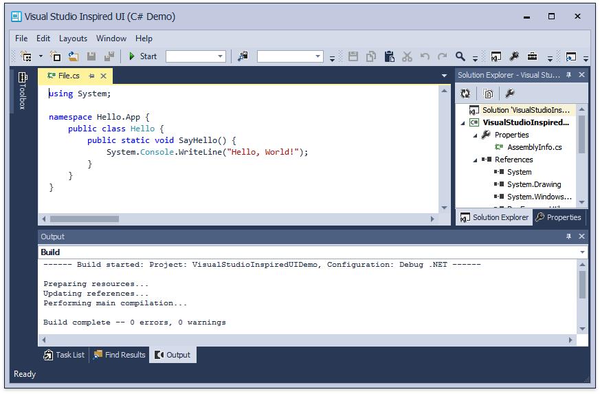 DevExpress WinForms控件入门指南:Visual Studio样式的应用界面
