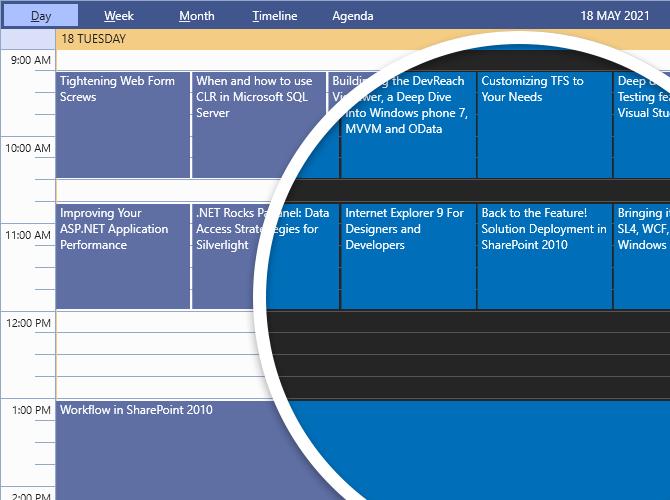 Telerik UI for WPF中热门的深色主题图集2