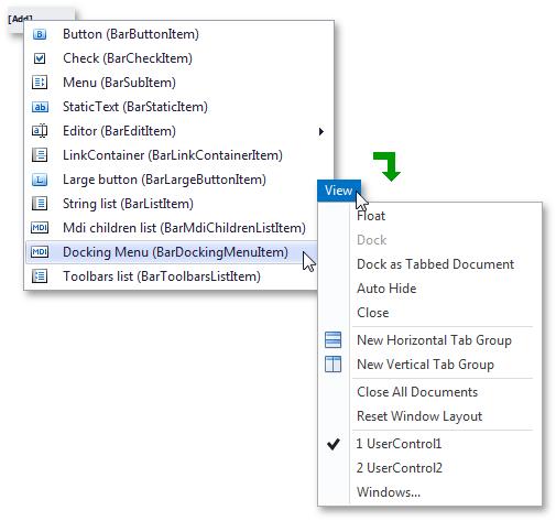 创建Visual Studio样式的应用界面 - Bar Manager图解7