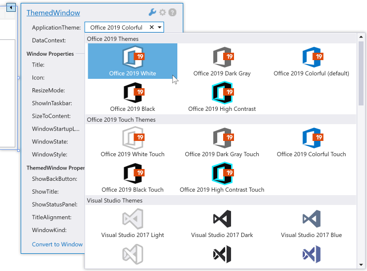 DevExpress WPF入门教程之应用程序主题图2