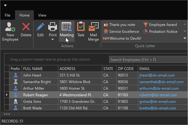 DevExpress WPF主题列表图解 - Office2016BlackSE主题