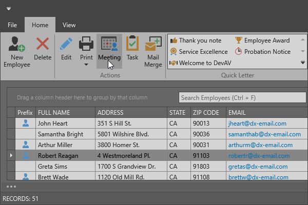 DevExpress WPF主题列表图解 - Office2016DarkGraySE主题