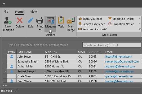 DevExpress WPF主题列表图解 - Office2019DarkGray主题