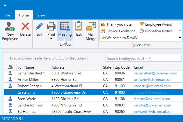 DevExpress WPF主题列表图解 - VS2019Light主题