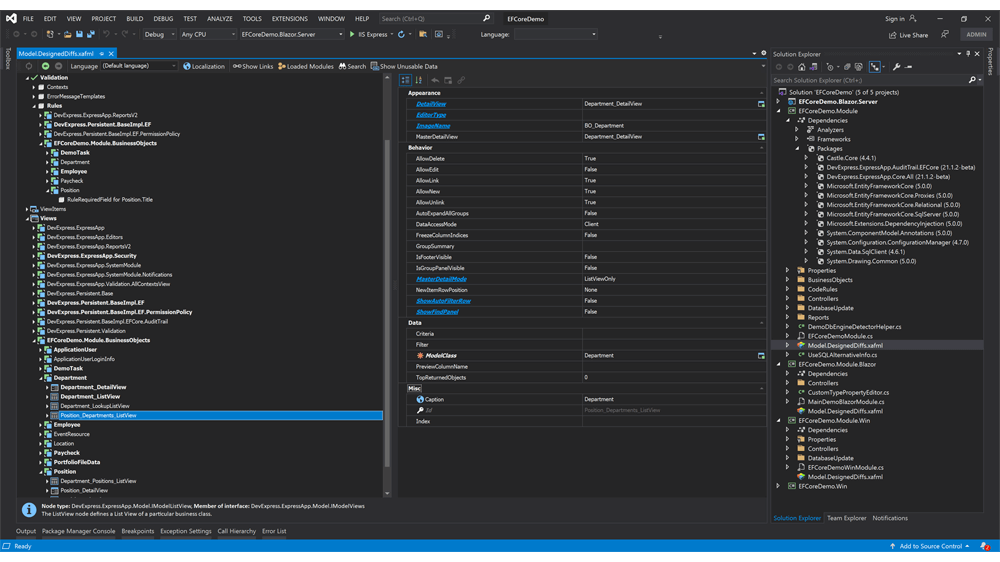 DevExpress XAF - 跨平台.NET应用程序UI v21.1新版亮点:UI增强图集