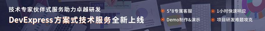 DevExpress方案式服务火热上线