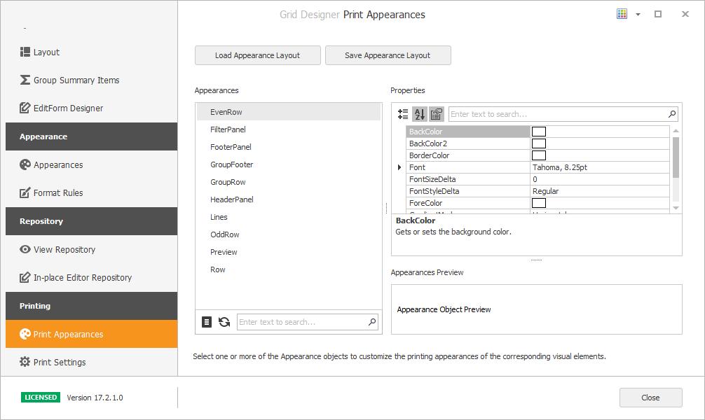 DevExpress打印控件图