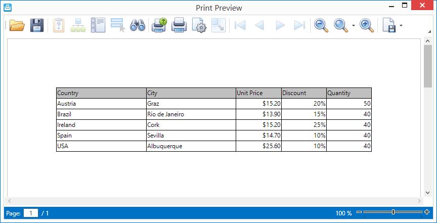 DevExpress WPF入门级教程 - 打印功能