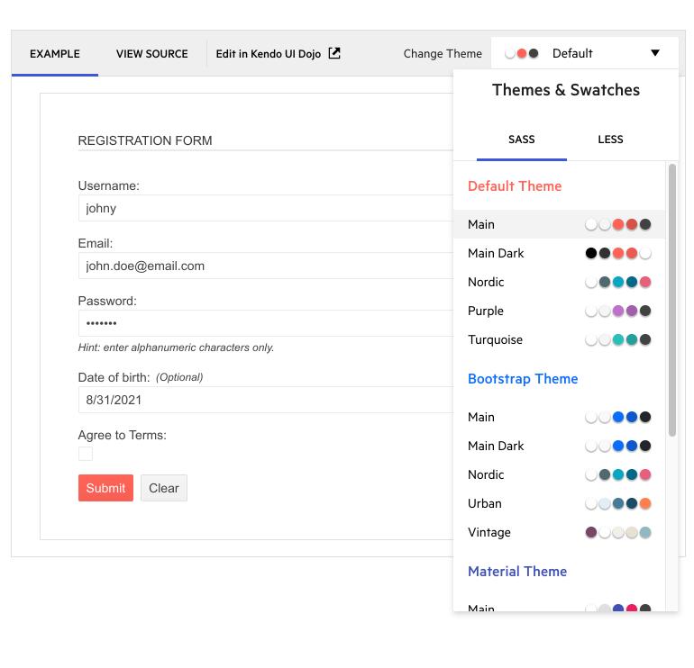 Kendo UI for Angular R3 2021图2