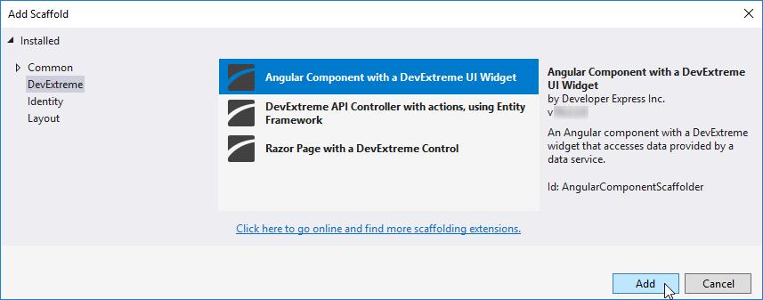 DevExtreme - 搭建一个Angular组件图2