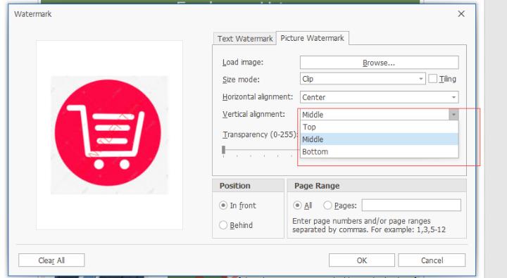 XtraReport的水印可以自定义位置么?想设置 x y坐标