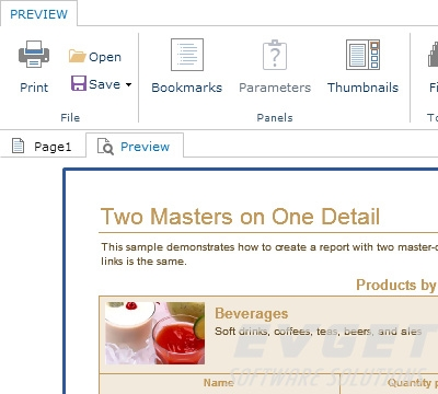 Stimulsoft Reports.PHP界面预览:Preview master-detail report