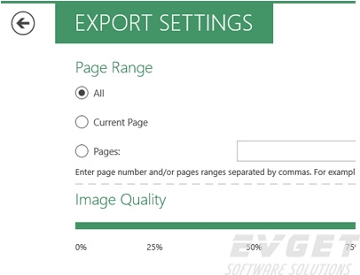 image export setting