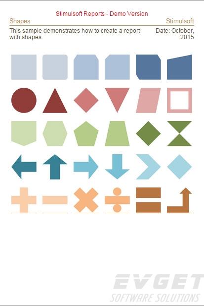 Stimulsoft Reports.Java界面预览:Shapes