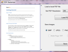 DynamicPDF Rasterizer for .NET