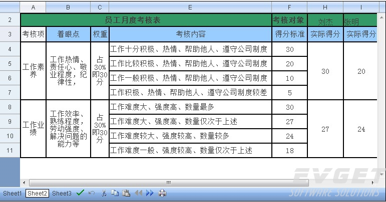 Spread for ASP.NET界面预览:Excel兼容