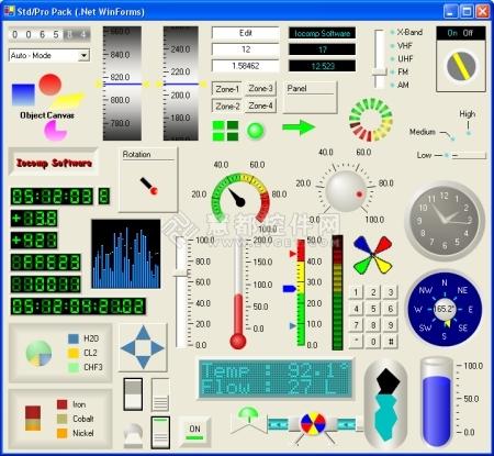 Iocomp .NET WinForm界面预览: