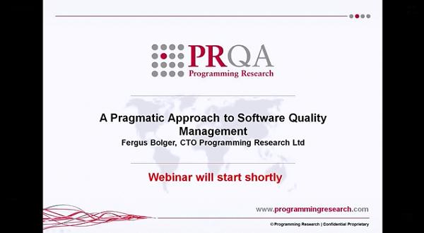 PRQA公开课二:软件质量管理实用方法
