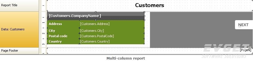 multi-column report