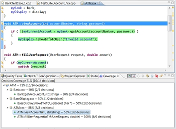 Parasoft C/C++test界面预览: