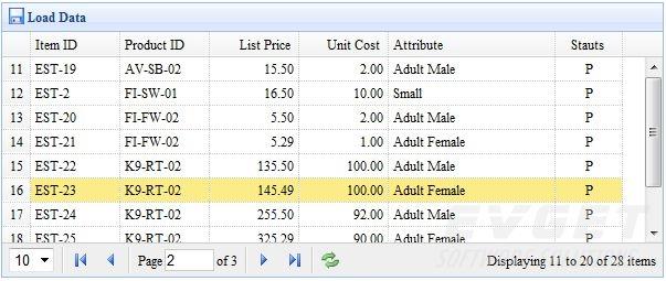 Load large data sets