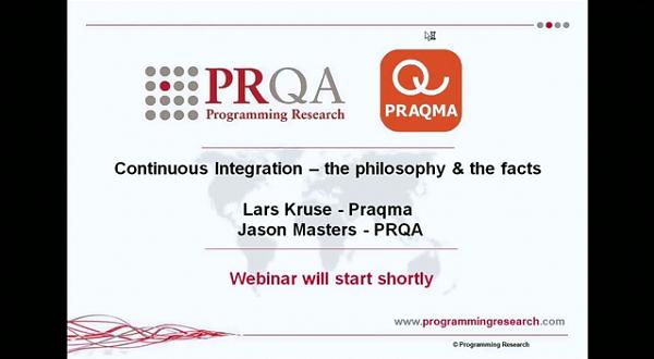 PRQA公开课五:持续集成的哲学和事实