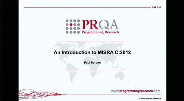 PRQA公开课六:MISRA C:2012介绍