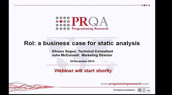 PRQA公开课八:关于静态分析的商业案例