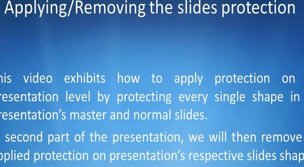Aspose.Slides for .NET:应用/消除幻灯片保护