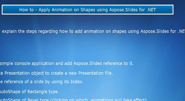 Aspose.Slides for .NET:应用动画