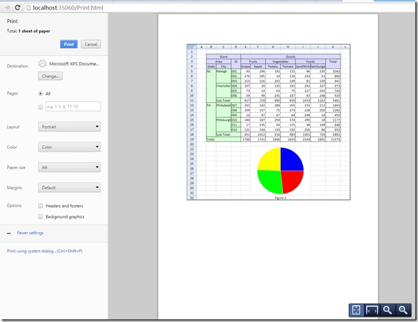 SpreadJS 9 新功能之预览和打印数据视图
