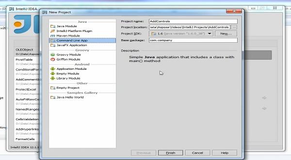 Aspose.Cells for java视频教程:添加控件