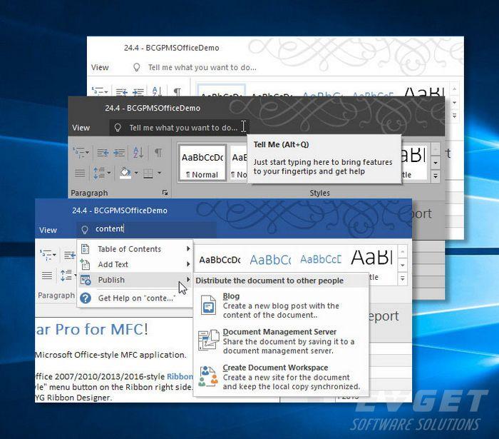 MFC界面库BCGControlBar新版功能详解一:Ribbon Bar