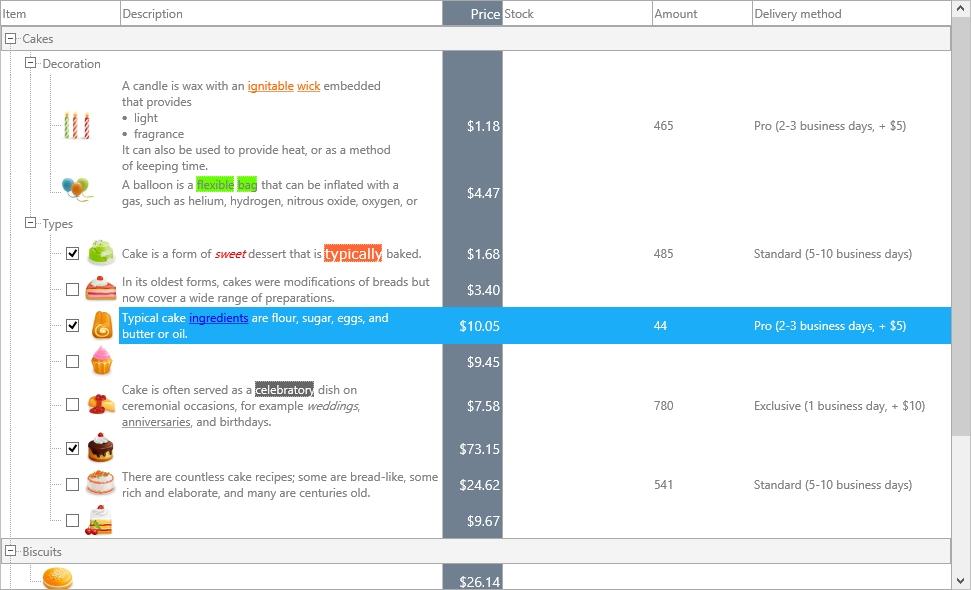 TMS FNC UI Pack界面预览:TTMSFNCTreeView
