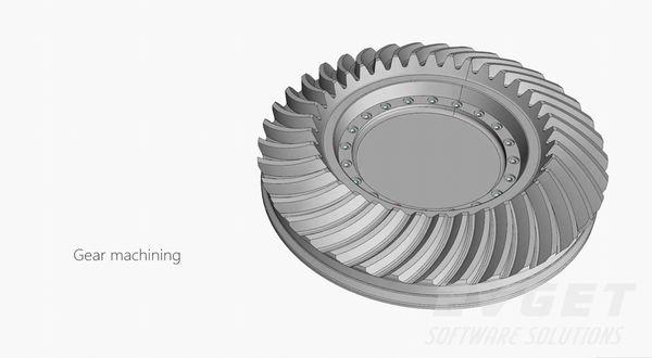 CAD/CAM控件展示(3):5轴齿轮加工