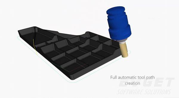 CAD/CAM控件展示(6):5轴木屑加工