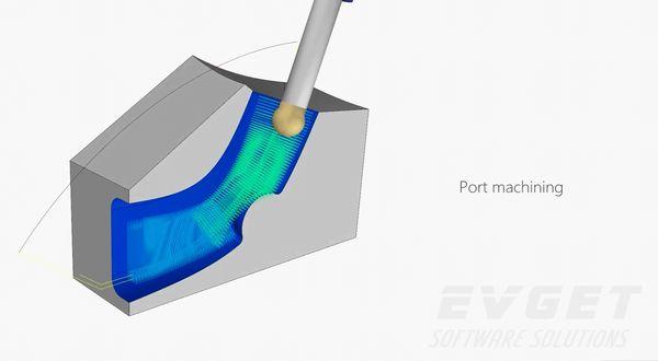 CAD/CAM控件展示(5):5轴港口机械加工