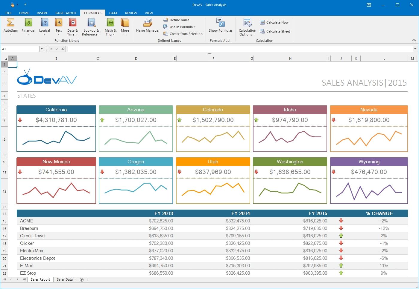 DevExpress Winforms Controls界面预览:winforms-spreadsheet-control