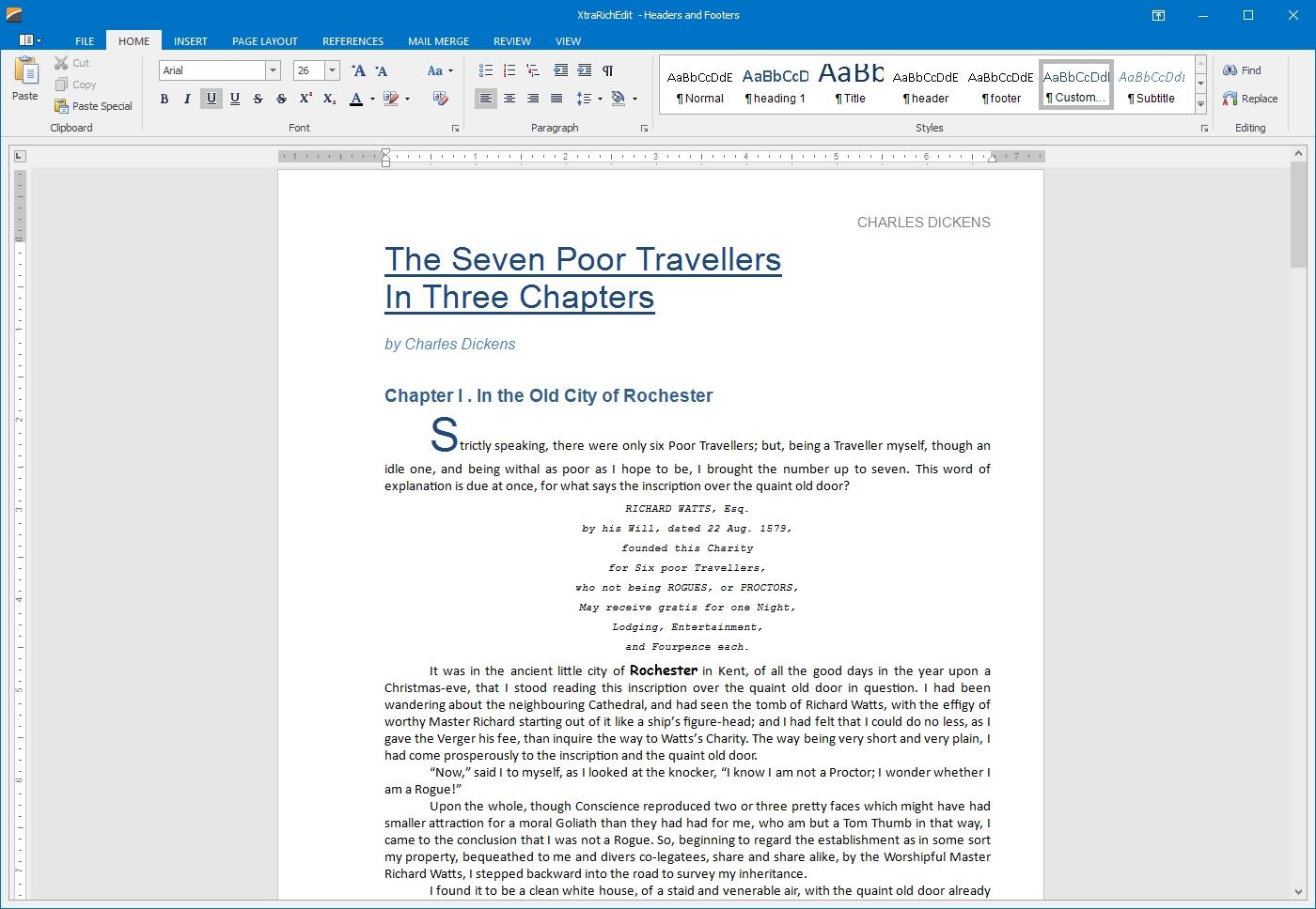 DevExpress Winforms Controls界面预览:winforms-rich-text-editor