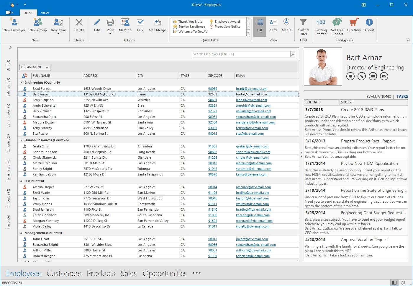 DevExpress Winforms Controls界面预览:winforms-grid-office-2016