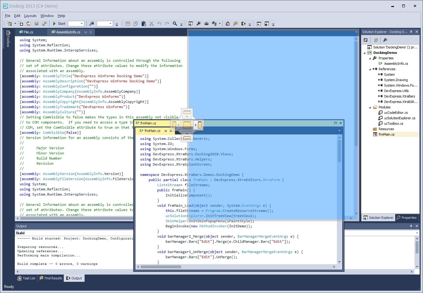 DevExpress Winforms Controls界面预览:winforms-docking