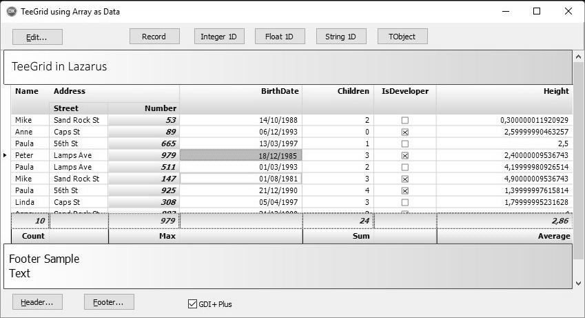 TeeGrid for VCL/FMX界面预览:teegrid_headerstyles