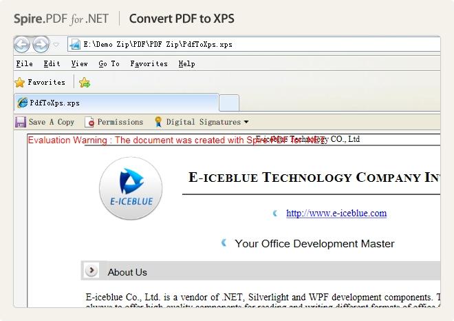 Spire.PDF for .NET界面预览:图集