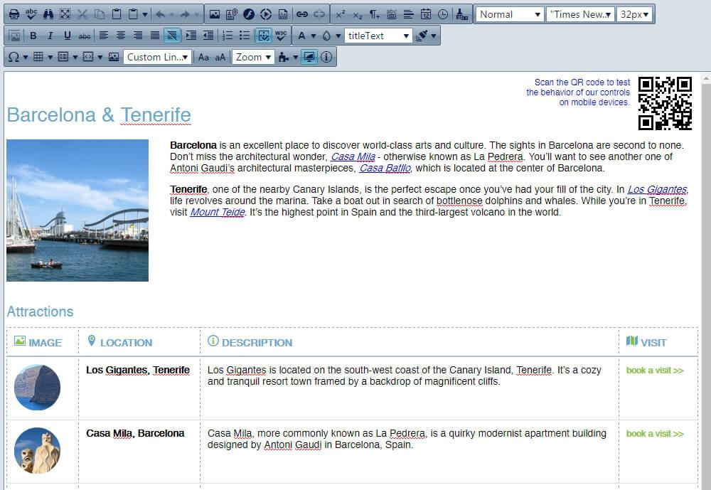 Telerik UI for ASP.NET AJAX界面预览: