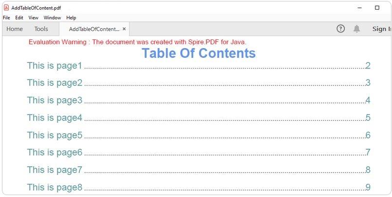Spire.PDF for Java界面预览: