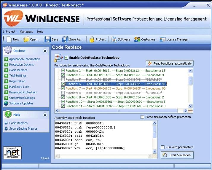 WinLicense界面预览: