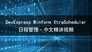 DevExpress Winform XtraScheduler 日程管理教学视频
